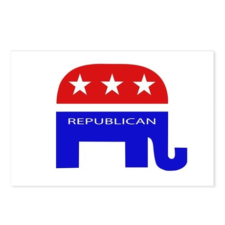 GOP Elephant Postcards (Package of 8)