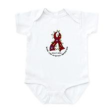 Sickle Cell Anemia FlowerRibbon1.1 Infant Bodysuit