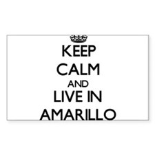 Keep Calm and live in Amarillo Decal