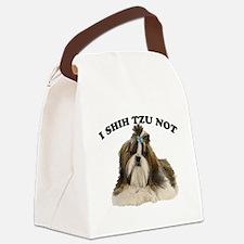I shit you not Shih Tzu Pun Canvas Lunch Bag