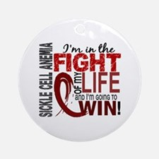 Sickle Cell Anemia FightOfMyLife1 Ornament (Round)