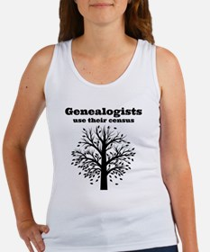 Genealogists use their census Women's Tank Top