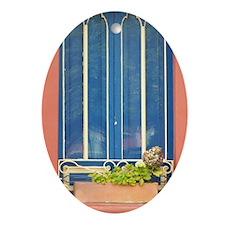 Blue Window Ornament (Oval)