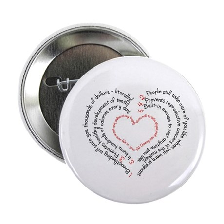 "Breastfeeding: The Greatest Gift 2.25"" Button (100"