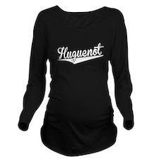 Huguenot, Retro, Long Sleeve Maternity T-Shirt