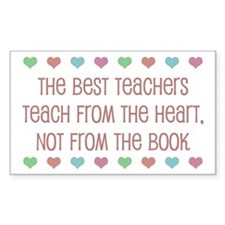Teach With Hearts Rectangle Decal