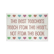 Teach With Hearts Rectangle Magnet