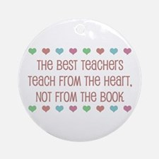 Teach With Hearts Ornament (Round)