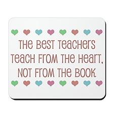 Teach With Hearts Mousepad