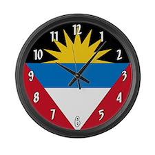 Flag of Antigua and Barbuda Large Wall Clock