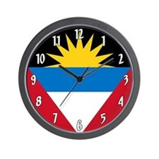 Flag of Antigua and Barbuda Wall Clock