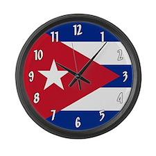 Flag of Cuba Large Wall Clock