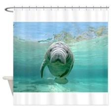 Baby Manatee Shower Curtain