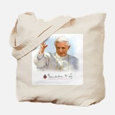 Pope Benedict Drawing Tote Bag