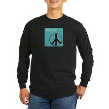 iimaginepeacenanoblue copy Long Sleeve T-Shirt