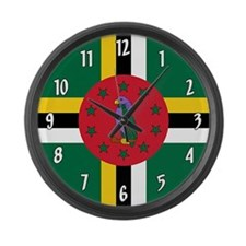 Flag of Dominica Large Wall Clock