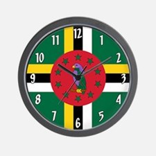 Flag of Dominica Wall Clock