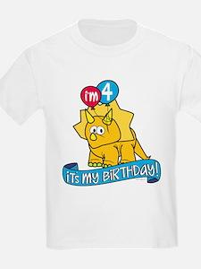 4th Birthday Dinosaur T-Shirt