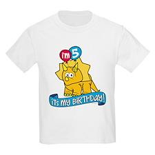 5th Birthday Dinosaur T-Shirt