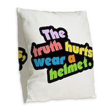 Wear a Helm Burlap Throw Pillow