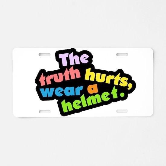 Wear a Helm Aluminum License Plate