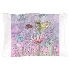 A Friendly Encounter Fairy and Ladybug Pillow Case