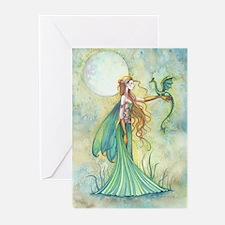 Discipline Fairy and Dragon Fantasy Art Greeting C
