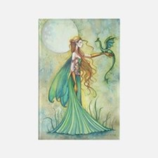 Discipline Fairy and Dragon Fantasy Art Magnets