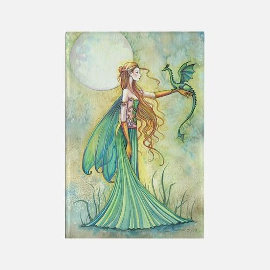 Discipline Fairy and Dragon Fantasy Art Magnets