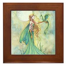 Discipline Fairy and Dragon Fantasy Art Framed Til
