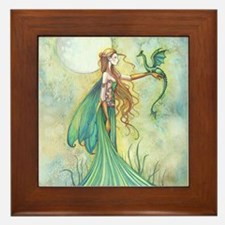 Discipline Fairy and Dragon Fantasy Art Framed Til