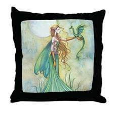 Discipline Fairy and Dragon Fantasy Art Throw Pill