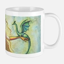 Discipline Fairy and Dragon Fantasy Art Mugs