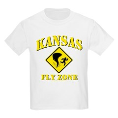 Kansas - Fly Zone! Kids Light T-Shirt