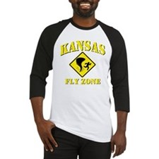 Kansas - Fly Zone! Baseball Jersey