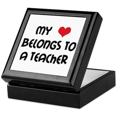 Heart Belongs to a Teacher Keepsake Box