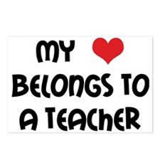Heart Belongs to a Teacher Postcards (Package of 8
