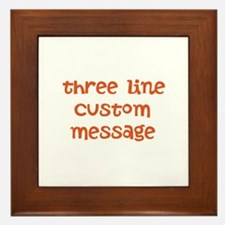 Three Line Custom Design Framed Tile