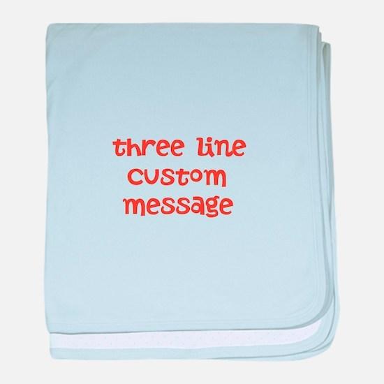 Three Line Custom Design baby blanket