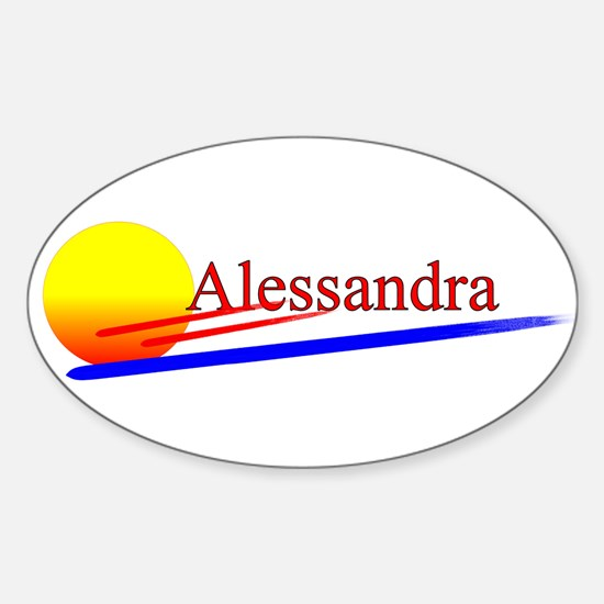 Alessandra Oval Decal