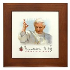 Pope Benedict Framed Tile
