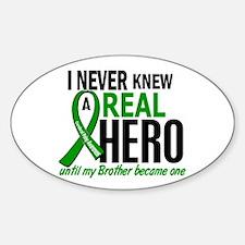 Cerebral Palsy Real Hero 2 Sticker (Oval)