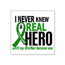 "Cerebral Palsy Real Hero 2 Square Sticker 3"" x 3"""