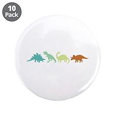 "Prehistoric Medley Border 3.5"" Button (10 pack)"