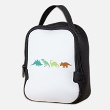 Prehistoric Medley Border Neoprene Lunch Bag