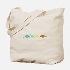 Prehistoric Medley Border Tote Bag