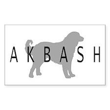 Akbash Rectangle Decal