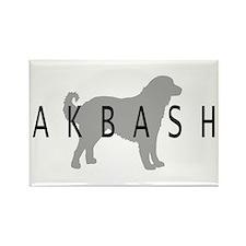Akbash Rectangle Magnet