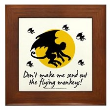 Send Out The Flying Monkeys! Framed Tile