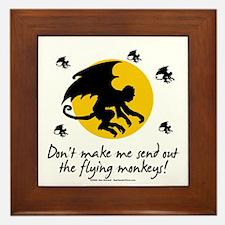 Send Out The Flying Monkeys! Framed Tile